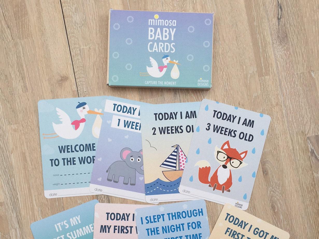 Baby Gift Cards Uk : Baby milestone cards christening gift boy girl