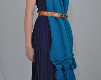 Pleated Skirt Navy Blue | Vintage 70's 80's Navy Shirt Blue Skirt Vintage Skirt