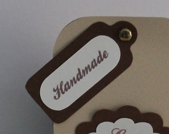 """Handmade tags/labels in paper """"Handmade"""" Customizable tags"""