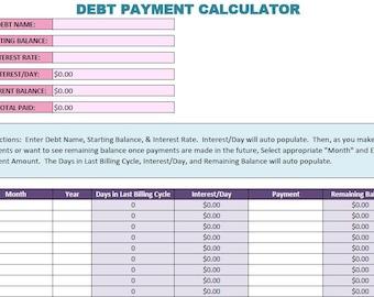 NEW & IMPROVED!  Debt Snowball Calculator