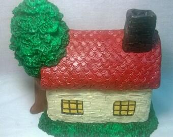 """Handpainted """"Beige Cottage"""""""