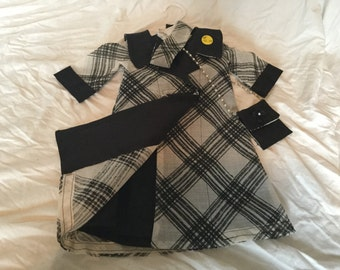 American Girl Black and White Dress