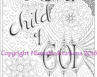 coloring page i am a child of god - A Child God Coloring Page
