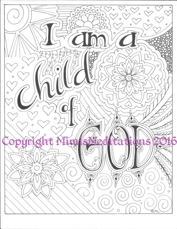Coloring page i am a child of god for I am a child of god coloring page