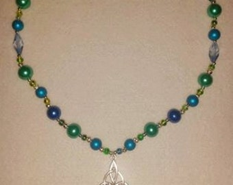 Beaded Mermaid choker style necklace