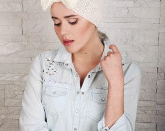 Knitted Headband, Womens Wool Turban, Chic Headband, Knitted head wrap, Winter ear warmer, Winter hair accessory, Fashion Hat, Gift for Her
