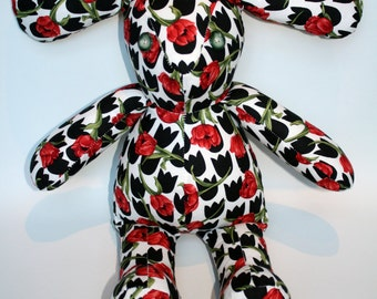 Red Tulip Vintage Style Teddy Bear