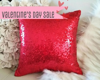VALENTINE'S DAY SALE: Sequin Metallic Throw Pillow / Cushion Cover