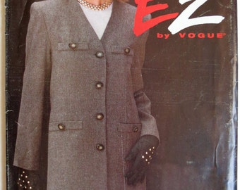 Ultra E Z by Vogue 8805 Working Girl Jacket and Skirt Combo Multi Size 12-14-16.