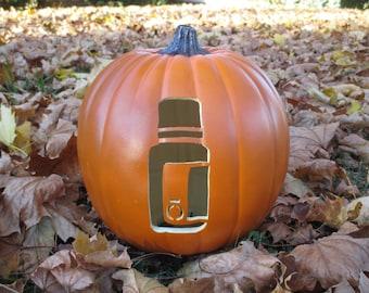 Essential Oil Bottle Carved Pumpkin