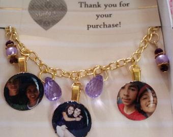 Custom Picture Charm Bracelet