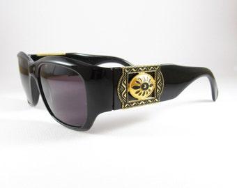 Vintage Sunglasses, Bolero 474, Oversized Black Sunglasses for Women, 90s Deadstock Sunglasses, Vintage Eyewear, Gift for Mom, made in ITaly