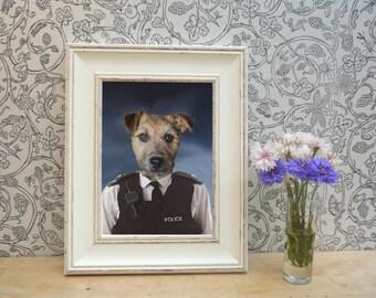 Lakeland Terrier Police Framed Pet Portrait Print