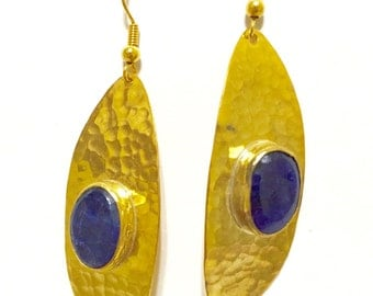 Handmade Hammered Look Earring