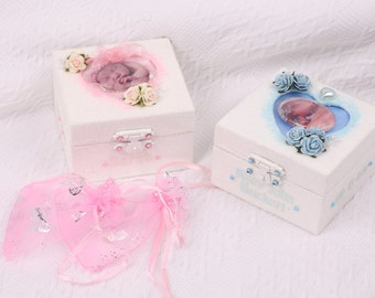 Personalised baby keepsake box, Baby memory box, Personalised memory box,  keepsake box, Custom keepsake box, Baby girl gift, Baby boy gift.