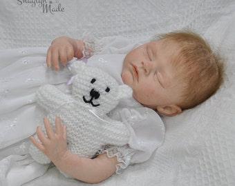 White Knitted Teddy Bear 15cm