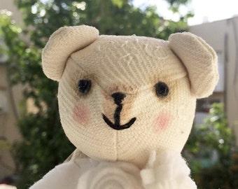 White OOAK teddy bear