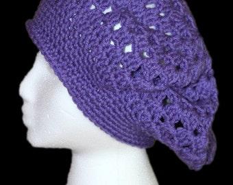 Purple Slouch Hat, Lavender Purple Kingston Slouch Hat, Lavender Purple Slouchy Hat, Lavender Purple Slouchy Tam, Oversize Hat