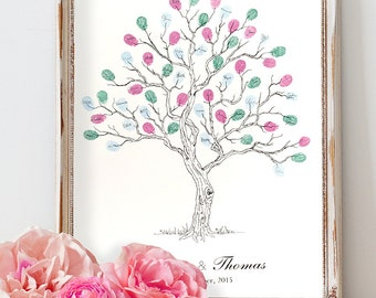 Wedding tree guest book - Fingerprint Tree Guest Book, Plus 3 ink pads & FREE delivery. Special Offer!