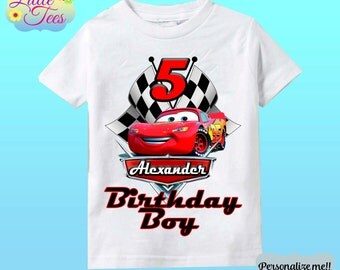 Disney Cars Birthday Shirt - Lightning McQueen and Mater Racer Shirt/lightning mcqueen shirt/disney cars shirt/birthday boy/159