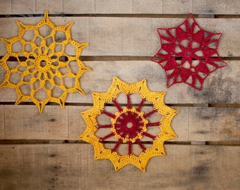rustic chrismas decorarions, set of 3