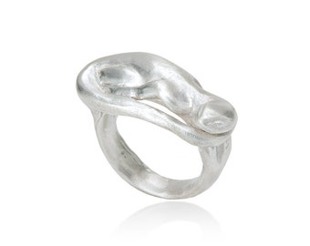 Salamander ring made of 925 sterling silver
