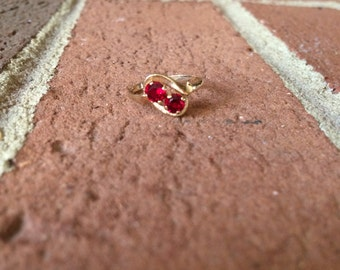 Red Garnet January Birthstone 10k Gold Ring
