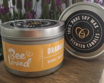 Orange Scented Soy Wax Tin Candle