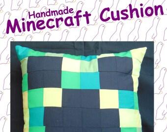 Creeper from Minecraft. Handmade Minecraft Cushion.