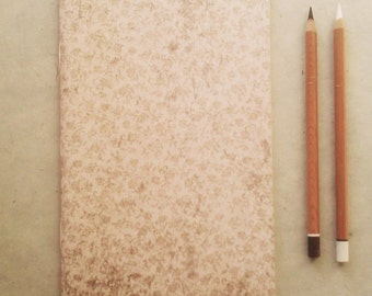 2 booklets for writing / sketching / drawing, set of 2, handmade