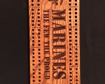 Marines cribbage board