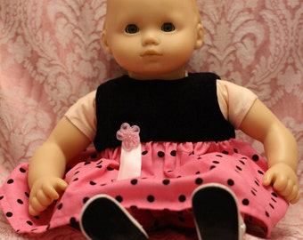 American Girl Bitty Baby Doll Dress Handmade 15 Inch Baby Doll Clothes