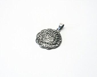 Crescent Sun Star Celts Silver 925 Triquetta