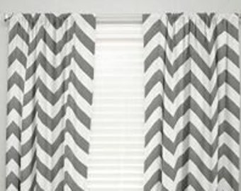 Chevron Curtains For Baby's Room