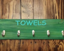 Towel Rack, Towel Hanger, Beach Decor, Beach Accessories, Beach Towel Rack, Beach House Decorations, 24in x 5.5in (66cm x 14cm)