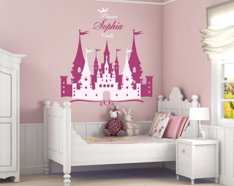 Superbe Princess Castle Personalized Name Decal, Nursery Decal, Girlu0027s Room Decal, Castle  Wall Sticker