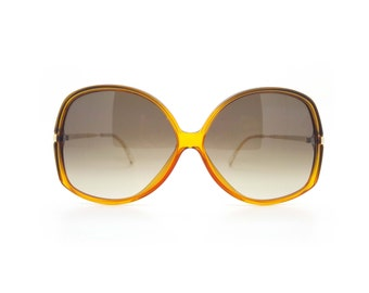 Genuine 1980s Carrera 5545 40 Oversized Vintage Sunglasses with Gold Arms // New Old Stock // Made in Austria