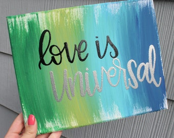 "Ready to Ship! 8x10"" Love is Universal Embossed Canvas"