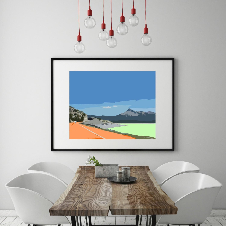 modern wall art mid century modern art print abstract. Black Bedroom Furniture Sets. Home Design Ideas