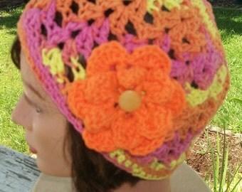 Women's Summer Cloche with Interchangeable Flowers