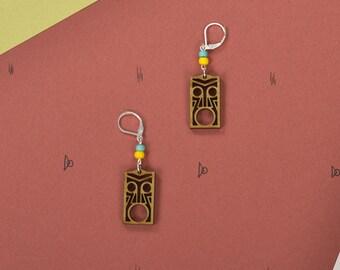 Wood WOODEARZ Totem earrings