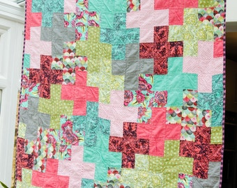 Modern Lap Quilt, Ready to Ship, Discounted