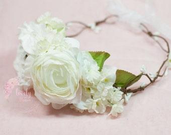 Floral Halo, Flower Crown Girl, Flower Girl Halo, Flower Girl Wreath, Bridesmaid, Flower Crown, Flower Halo, Floral Head Wreath