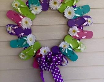 Summer Fun Flip-Flop Wreath