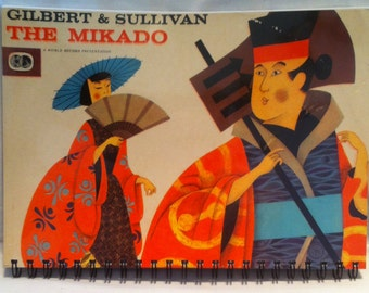 1962 Gilbert & Sullivan The Mikado Notebook