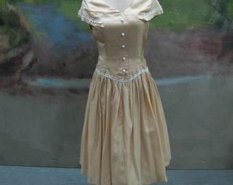 Caramel Yellow Dress 1950's Original.