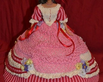 Pink and Red Bed Doll