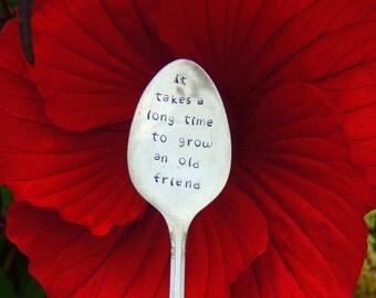 Friendship Gift / Best Friend / BBF / It Takes A Long Time To Grow An Old Friend / Garden Marker / Garden Decor / Old friend / Dear Friend