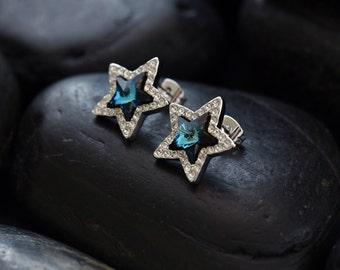Midnight Stars Swarovski crystal earrings