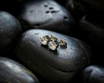 Marry Me stud earrings, Swarovski Zirconias set in rhodium